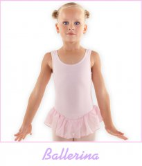 Balletpakje Ballerina   Roze met rokje   Katoen lycra