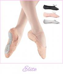 Leren balletschoenen met hele zool van Dancer Dancewear