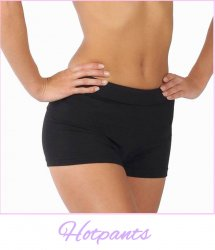 Hotpants in katoen lycra van Dancer Dancewear